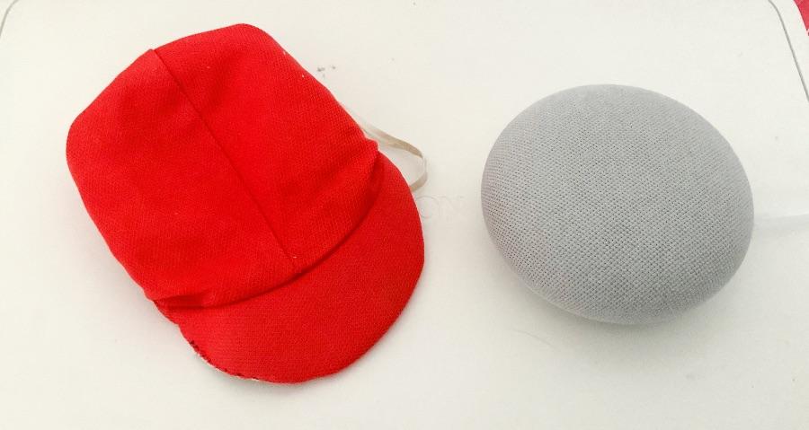 写真:ぬいぐるみサイズに縫った帽子